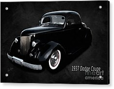 1937 Dodge Coupe  Acrylic Print by Anne Kitzman