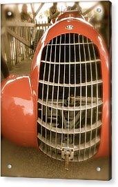 Acrylic Print featuring the photograph 1938 Alfa Romeo 308c Front Grill by John Colley