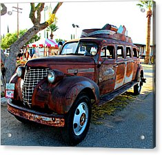 Acrylic Print featuring the photograph 1939 Chevy Sedan Limo by Jo Sheehan