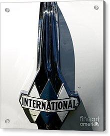 1939 International Hood Ornament  Acrylic Print by Steven Digman