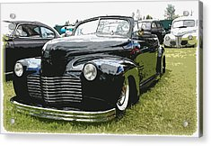 1940 Chevy Convertable Acrylic Print by Steve McKinzie
