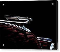 1940 Chevy Hood Ornament Acrylic Print by Douglas Pittman