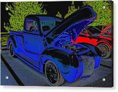 1940 Ford Pick Up Acrylic Print by Rebecca Frank