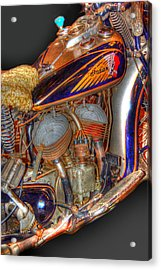 1940 Indian Scout Police Unit Version 1 Acrylic Print by Ken Smith