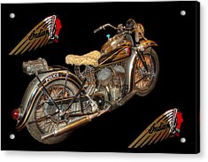 1940 Indian Scout Police Unit Version 3 Acrylic Print by Ken Smith