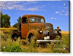 1940's Chevy Truck 2 Acrylic Print by Camille Lyver