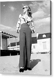 1940s Fashion A Peasant Top Acrylic Print by Everett