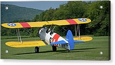1941 Stearman Taxiing For Takeoff Acrylic Print by Jim and Kim Shivers