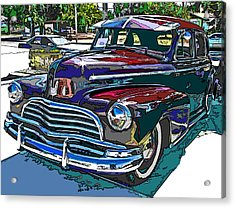1946 Chevrolet Acrylic Print by Samuel Sheats