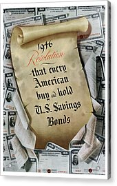 1946 Resolution  Acrylic Print by War Is Hell Store