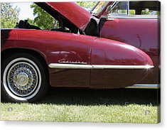 1947 Cadillac . 5d16181 Acrylic Print by Wingsdomain Art and Photography