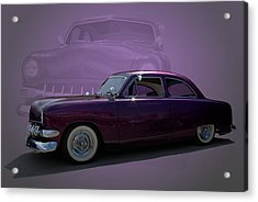 1950 Custom Ford Street Rod Acrylic Print by Tim McCullough