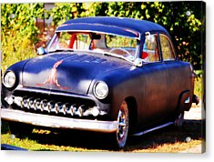 Acrylic Print featuring the photograph 1950 Ford  Vintage by Peggy Franz
