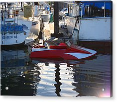 Acrylic Print featuring the photograph 1950's Custom Hydroplane by Kym Backland