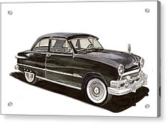 1951 Ford 2 Dr Sedan Acrylic Print by Jack Pumphrey