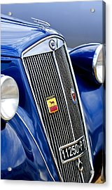 1952 Lancia Ardea 4th Series Berlina Grille Emblems Acrylic Print by Jill Reger