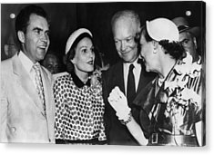 1952 Presidential Campaign. From Left Acrylic Print by Everett