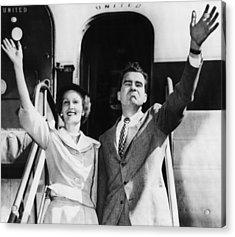 1952 Presidential Campaign.  Patricia Acrylic Print by Everett