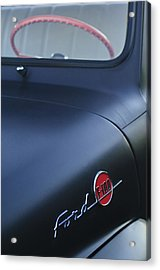 1953 Ford F-100 Pickup Truck Steering Wheel And Emblem Acrylic Print by Jill Reger