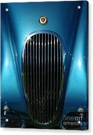 1953 Jaguar 120m Grill Acrylic Print by Peter Piatt