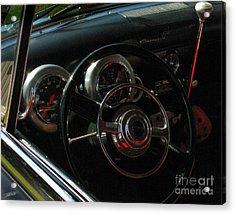 1953 Mercury Monterey Dash Acrylic Print by Peter Piatt