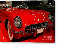 1954 Chevrolet Corvette . Red . 7d9157 Acrylic Print by Wingsdomain Art and Photography
