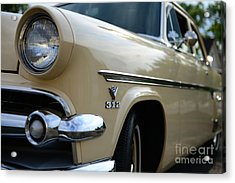 1954 Ford Customline Front End Acrylic Print by Paul Ward