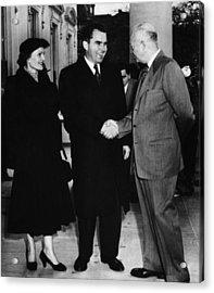 1954 Us Presidency.  Us President Acrylic Print by Everett