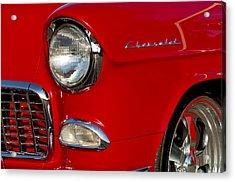 1955 Chevrolet 210 Headlight Acrylic Print by Jill Reger