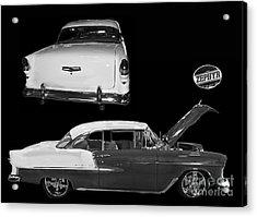 1955 Chevy Bel Air 2 Door Hard Top Acrylic Print by Tim Mulina