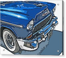 1955 Chevy Bel Air Front Study Acrylic Print