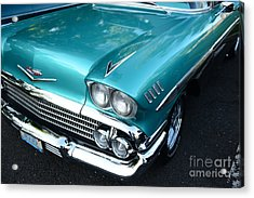 1955 Chevy Belair Front End Acrylic Print by Paul Ward