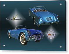 1955 Corvette - 68 Of 700 Built Acrylic Print by Mike  Capone