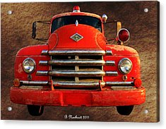 1955 Diamond T Grille - The Cadillac Of Trucks Acrylic Print