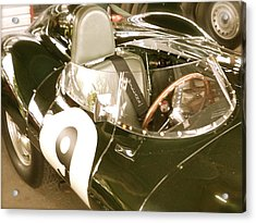 Acrylic Print featuring the photograph 1955 Jaguar D Type by John Colley