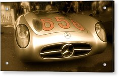 Acrylic Print featuring the photograph 1955 Mercedes Benz 300slr Fangio by John Colley