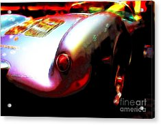 1955 Porsche 550 Rs Spyder . Color Sketch Style Acrylic Print by Wingsdomain Art and Photography