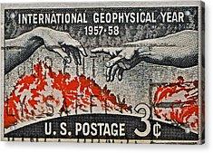 1957-1958 International Geophysical Year Stamp Acrylic Print