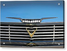 1958 Plymouth Belvedere Convertible Grille Emblem Acrylic Print by Jill Reger