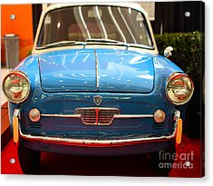 1959 Autobianchi Bianchina Transformabile . Front View Acrylic Print by Wingsdomain Art and Photography