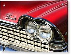 1959 Plymouth Sport Fury  Acrylic Print