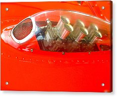 Acrylic Print featuring the photograph 1960 Ferrari 246s Dino Hood Detail by John Colley