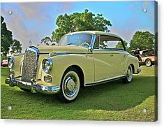 1960 Mercedes 300 Hardtop Sedan Acrylic Print by Mike  Capone