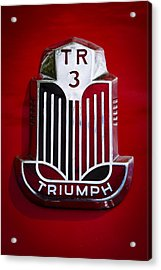 1960 Triumph Tr3a Acrylic Print by David Patterson