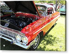 1961 Chevrolet Impala Ss Convertible . 5d16268 Acrylic Print by Wingsdomain Art and Photography
