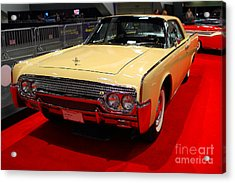 1961 Lincoln Continental Sedan . 7d9230 Acrylic Print by Wingsdomain Art and Photography