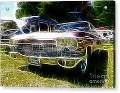 1962 Caddy Cadillac Acrylic Print by Paul Ward