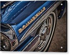1962 Pontiac Acrylic Print by James Woody