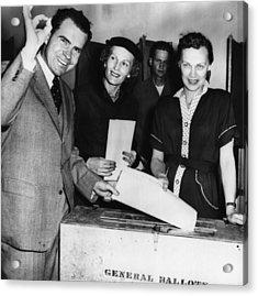 1962 Presidential Election. Senator Acrylic Print by Everett