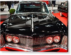 1963 Buick Riviera . Black . 7d9318 Acrylic Print by Wingsdomain Art and Photography